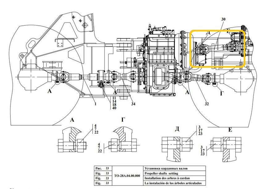 Вал карданный 41735-4201010-10 (Амкодор)
